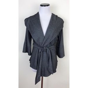 Xtaren Hooded Cardigan Tie Wrap Jacket Large